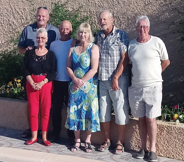 MBC members who entered the Champion of Champions this year, Gillian Morris, Colin Appleton, Jim Coughlan, Helen Chambers, Mike Chambers and Alan Benton
