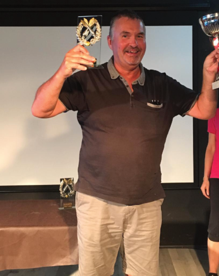 Sean Marshall, winner of the darts competition