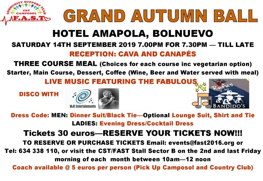 FAST Grand Autumn Ball Poster