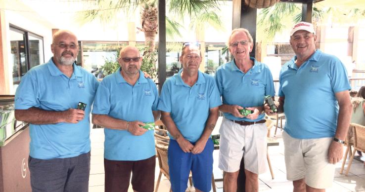 The team prize for the Shambles was won by Steven Davis, Darrell Merrett, Captain Iain Furniss, Albert Thrupp