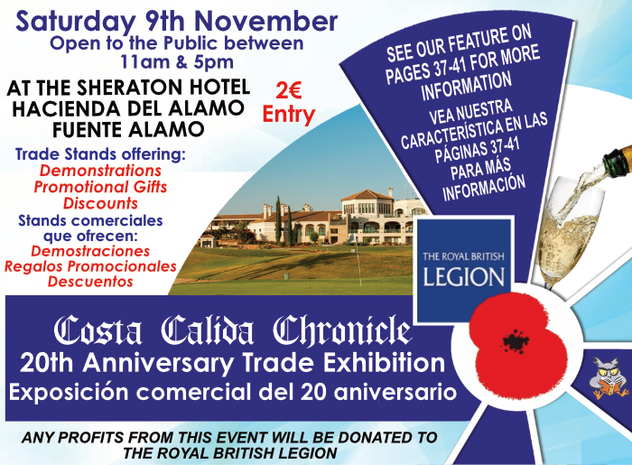 Costa Calida Chronicle 20th Anniversary Trade Exhibition Poster