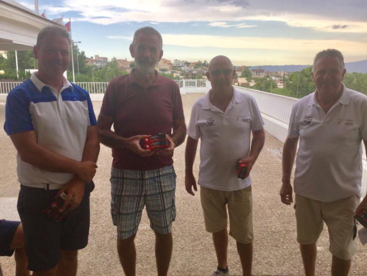 NTP winners from left Liam Purdy, Paul Western, Eddie Harrison, and Neil Macfarlane