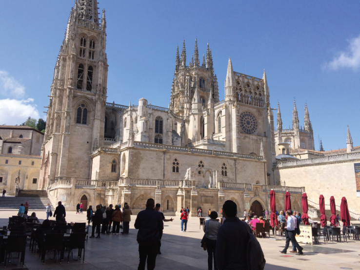 Burgos Cathedral - you will be in aweof its beauty. It was declared a World Heritage Site in 1984