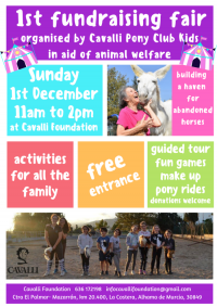 Cavalli Pony Club Kids 1st Fundraising Fair - 1st December 2019