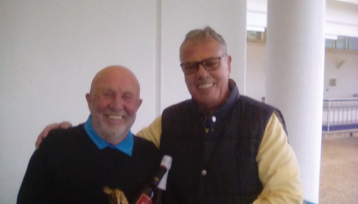 RICHARD DIXON with captain DAVE PERRY