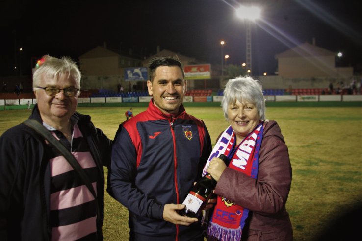 Coach Junajo - Man of the Match at the Real Murcia game