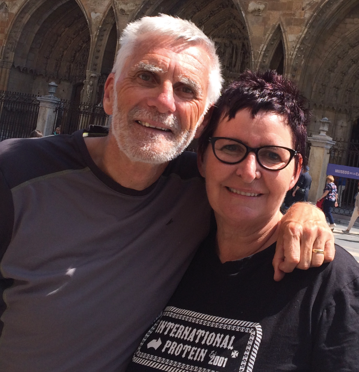 My Camino hero, Jo from New Zealand. 'I have been fighting this terrible thing for 48 years and now it is over. God has saved me. He has fixed everything'.