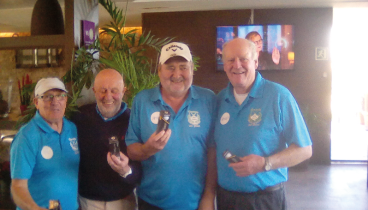 Our nearest the pin winners receive their prizes