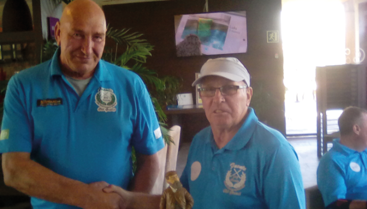 Division Two Winner Dave Davidson with  Vice Capt. Peter Kirke