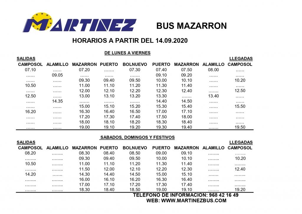 bus schedules mazzaron