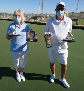 Helen Chambers and Colin Appleton singles champions 2021