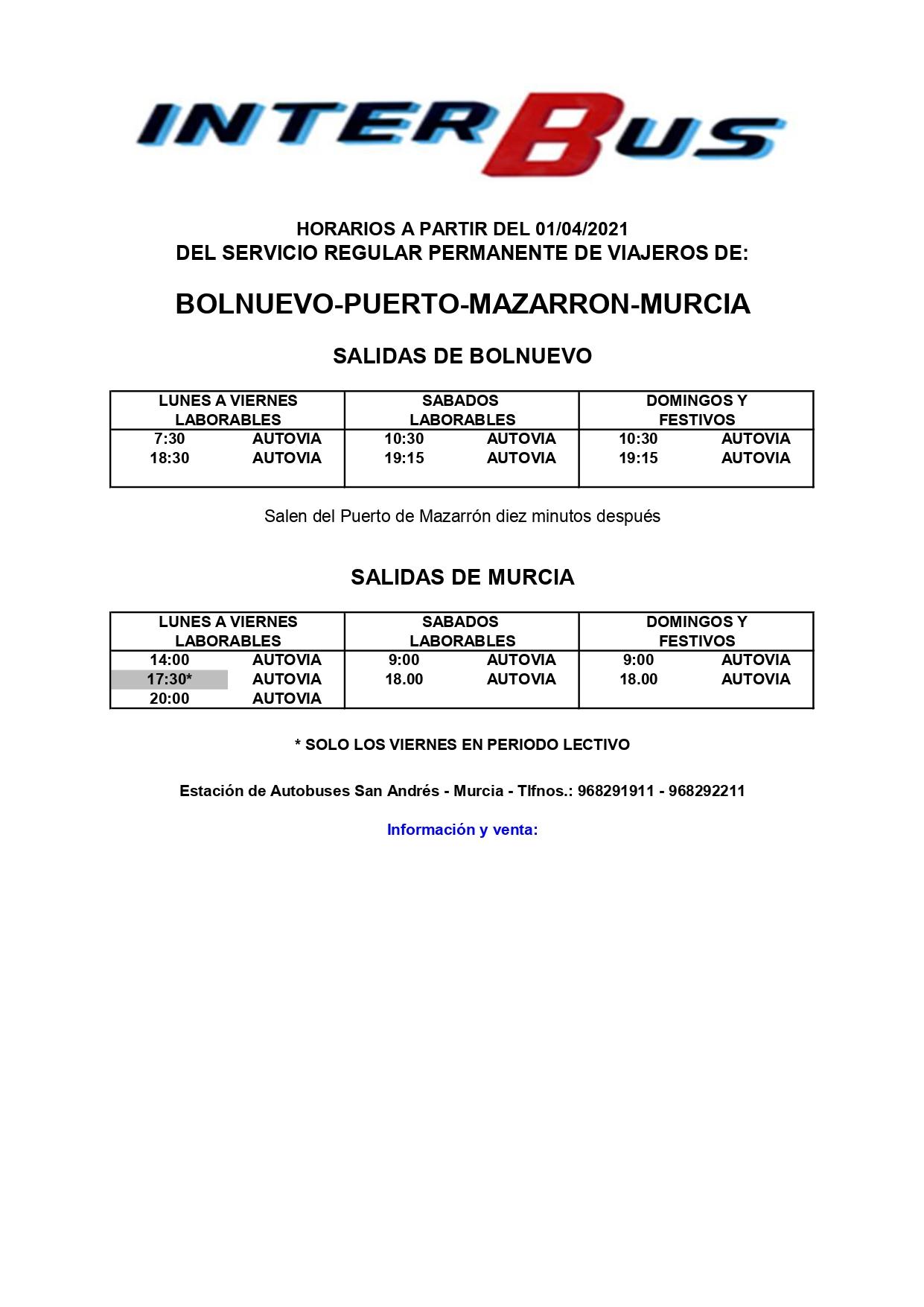 New bus schedules