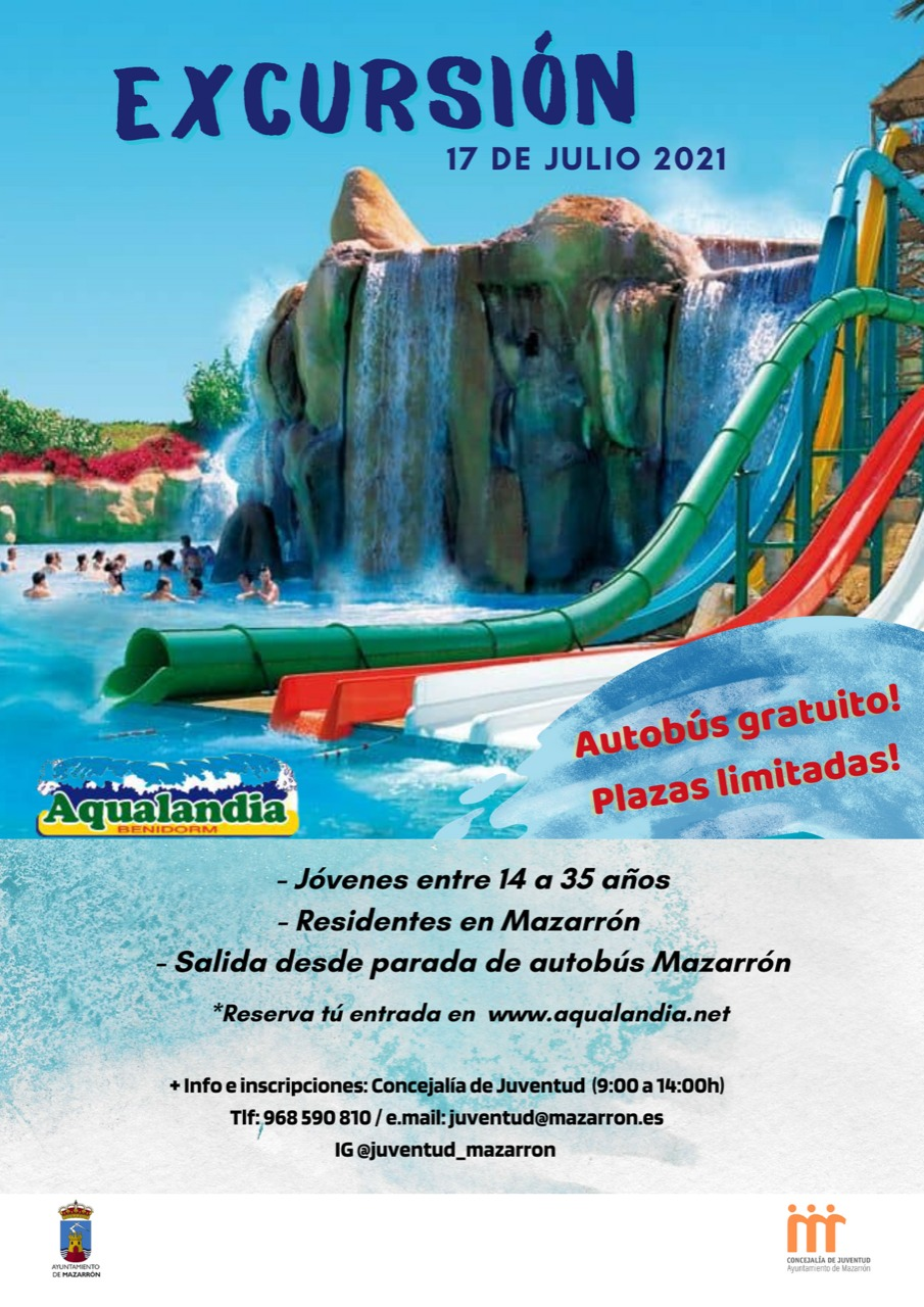 Free bus for an excursion to Aqualandia