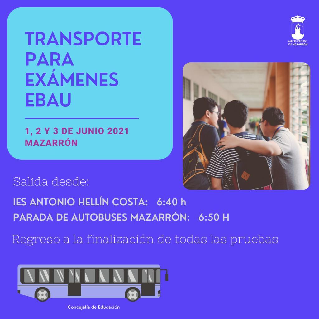 Free transportation for schoolchildren in Mazarrón