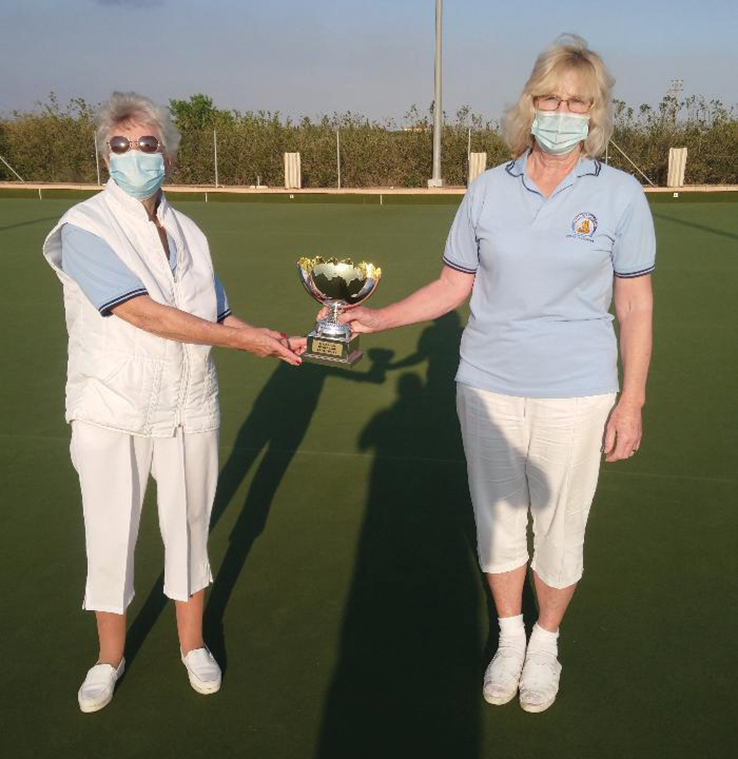 Gillian Morris and Helen Chambers Ladies Pairs 2021