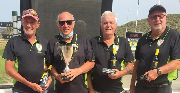 Winners l. to r. Sandy Bayne, Dave Lynch, Brian Tape & Nigel Harding