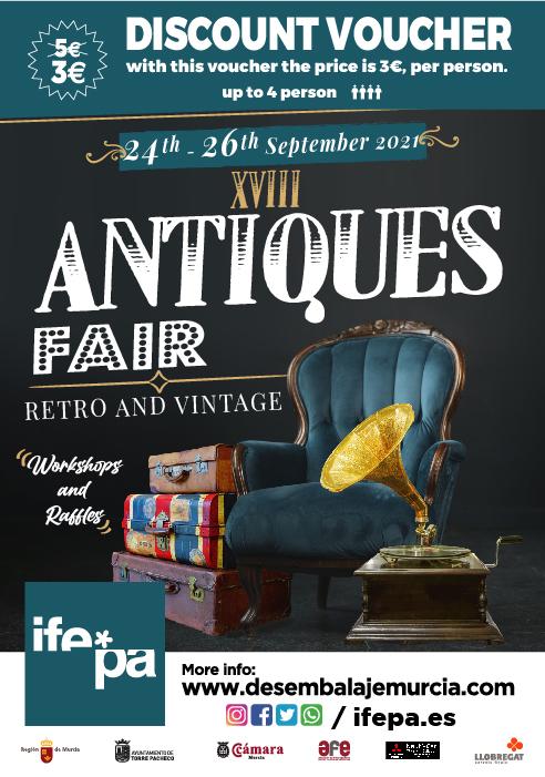 Discount Voucher for IFEPA antique exhibition