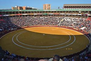 Murcia City's large bullring (Photo by DJI Madrid)